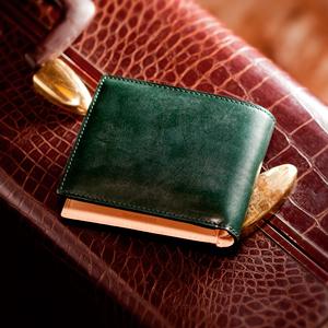 二つ折り財布・ブライドルレザー
