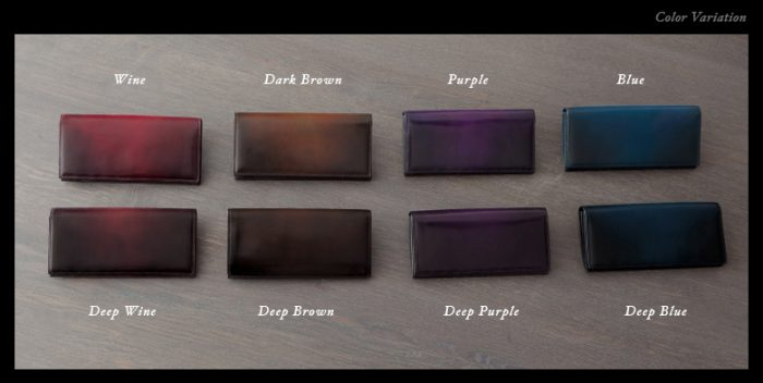 飽きない大人の秋色財布はまるで絵画のような染め上がり。