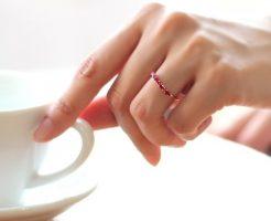7月の誕生石 ルビーの指輪