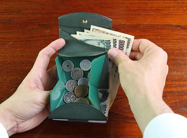 下町職人が作る三つ折り財布