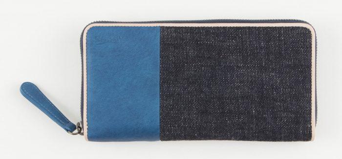 デニムのメンズ長財布
