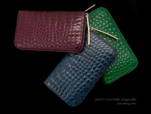 カラフルなクロコの長財布