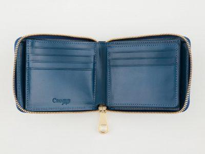 ブライドルレザーの二つ折り財布
