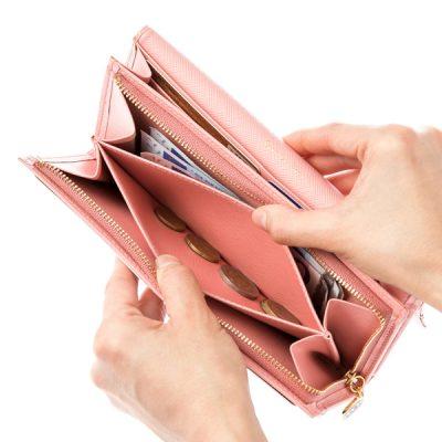 幸せ感がアップする大人ピンクのレディース長財布