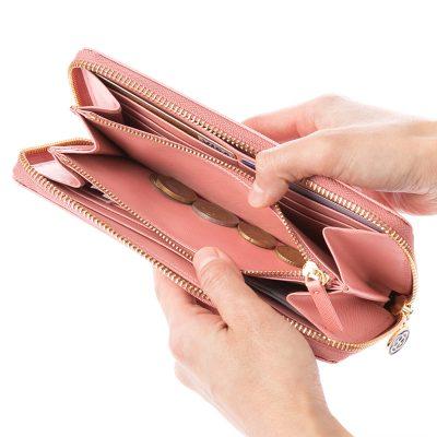 幸せのレディース長財布 ジップタイプ
