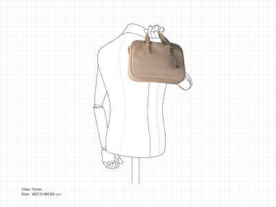 肩で担ぐコンパクトなビジネスバッグ