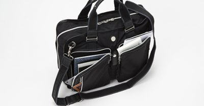 ポケットが充実したビジネスバッグ 出張に便利